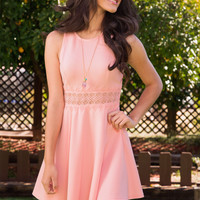 Something New Lace Dress - Blush