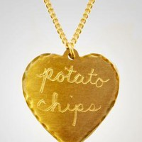 sweet nothing heart necklace - potato chips