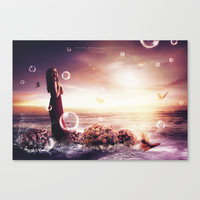 You're burst into my heart Canvas Print by Rose's Creation