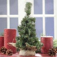 Canadian Pine Tree In Burlap - Table/Shelf Decorations - Christmas and Winter - Holiday Crafts