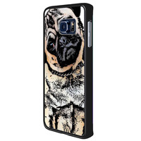 pugs alot dog c684be55-d2b4-4a47-8174-894fb412dc91 for Samsung Galaxy S6 Edge Plus Case *02*