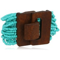 Nico New York Wood and Beaded Pink Bracelet