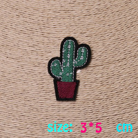 2016year New arrival 1PC Cactus Iron On Embroidered Patch For Cloth Cartoon Badge Garment Appliques DIY Accessory
