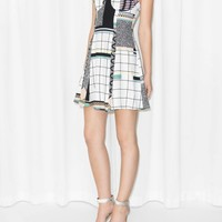 & Other Stories | Graphic Print Skater Dress | Off white