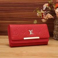 Louis Vuitton LV Fashion Women Shopping Fashion Leather Buckle Wallet Purse
