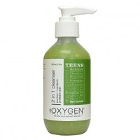 Oxygen Teen 2 in 1 Cleanser NZ | Natural Acne Problems Skincare Products Online | Shop Vanilla Bloom Natural Beauty Boutique