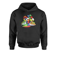 Melting Multi-Colored Cube Youth-Sized Hoodie