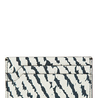 Lanvin Grey And Black Leather Card Holder