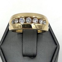 Men's Vintage .90 cts Diamond Channel set band Ring