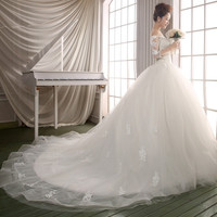 Bridal wedding dress shoulder sleeve wedding bride wedding luxury = 1929381828