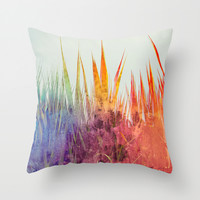 June  Throw Pillow by SensualPatterns