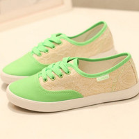 [grxjy5190014]Leisure lace canvas shoes