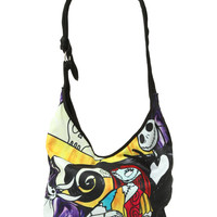 The Nightmare Before Christmas Jack & Sally Stained Glass Hobo Bag