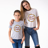 Thanksgiving outfit baby girl, Baby girl shirt, Thankgiving baby girl, Mommy baby girl shirts, Thankgiving mommy daughter shirts, UNISEX
