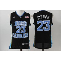 NCAA University Basketball Jersey North Carolina NC State Wolfpack # 23 Michael Jordan Black