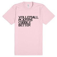 Volleyball Players Cuddle Tee-Unisex Light Pink T-Shirt