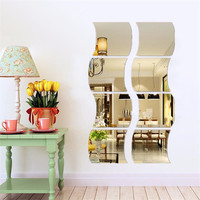 Special Offer DIY Removable Bathroom Child Home Room Dormitory Decoration Wall Mirror Sticker Art Vinyl Mural Decor Decal