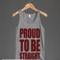 Proud To Be Straight (tank)-Unisex Athletic Grey Tank