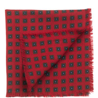 Ercole-Wool Hand Fringed Pocket Square