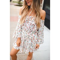 The Thea Floral Romper (Ivory)