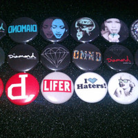 DIAMOND SUPPLY Co Buttons set of 9