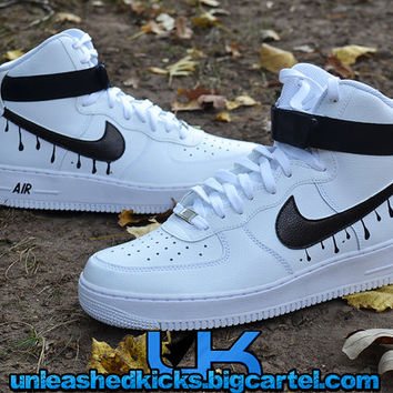 Custom Nike Drip Air Force 1s