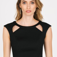 Cropped Top W/ Cut Outs