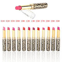 12Pcs/set Leopard Long Lasting Lipstick Moisturize Bright Nude Lip Gloss Pencil Balm
