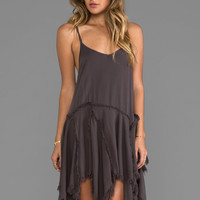 Free People Tattered Up Shred Slip in Charcoal