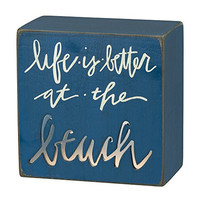 Life is Better at the Beach - Lighted Desk and Table Box Lamp Sign
