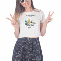 Disney Winnie The Pooh Quotes For Womens Crop Shirt **