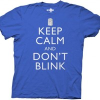Dr who Keep Calm and Don't Blink T shirt