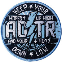 A Day To Remember Men's Hopes Up High Embroidered Patch Blue