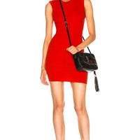 Enza Costa for FWRD Rib Sleeveless Mini Dress in Iconic Red | FWRD