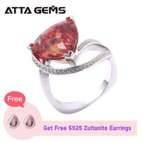 Zultanite Sterling Silver Rings For Women Engagement 9.2 Carats Created Diaspore Special Gemstone Wedding Anniversary Gifts