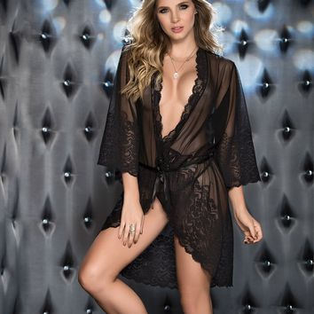 Romance Black Luxury Robe