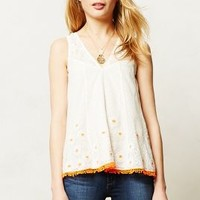 Daisy Field Tank by Vanessa Virginia Neutral Motif
