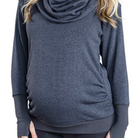 'Phoebe' Cowl Neck Maternity Sweater