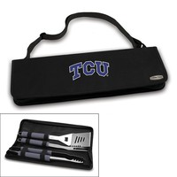 Picnic Time TCU Horned Frogs Metro 4-pc. Barbecue Tote Set (Black)