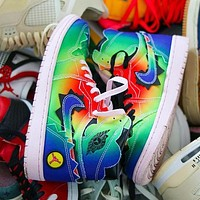 NIKE J Balvin X Air Jordan 1 AJ1 Fashion casual shoes