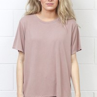 Basic Short Sleeve Modal Tee {Mauve}
