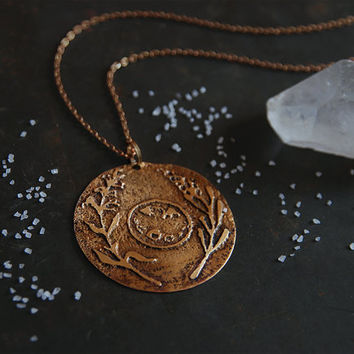 full moon necklace • witch necklace - art pendant - witchcraft jewelry - moon pendant necklace - moon sage lavender necklace