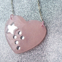 Shooting Star Heart Necklace