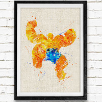 Fantastic Four, Thing, Watercolor Print, Baby Nursery Room Art, Home Decor, Not Framed, Buy 2 Get 1 Free