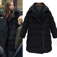 Cotton Thicken Padded Plus Size Winter Hats Coat Jacket [9515500228]