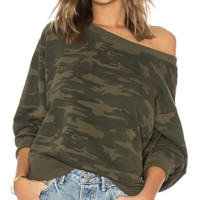 NWT Sanctuary Nolita camo sweatshirt in green, size XL