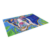 "Rebecca Fischer ""Addy Mae"" Pug Terrier Indoor / Outdoor Floor Mat"