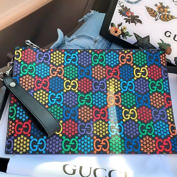 GUCCI New Envelope Bag Double-sided Clutch Toilet Bag