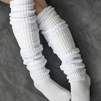 Socks by Sock Dreams » .Socks Special Collections » Scrunchy Socks » Schoolgirl Long Socks