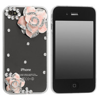 Crystal Rose Iphone Case iphone 4 4s in Pink and Black